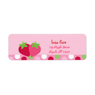 Sweet Strawberry Address Labels