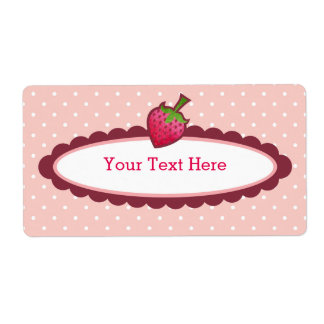 Sweet Strawberry Bookplates Labels
