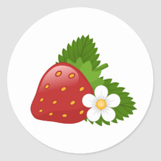 Sweet Strawberry Classic Round Sticker