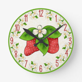 Sweet Strawberry Clock