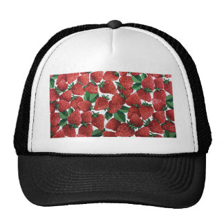 Sweet Strawberry Fabric Print Trucker Hat