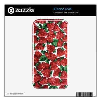 Sweet Strawberry Fabric Print Skins For The iPhone 4