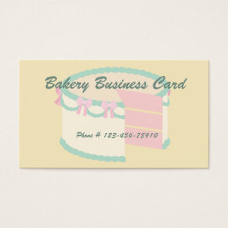 Sweet Strawberry Sliced Decorated Fancy Cake Business Card