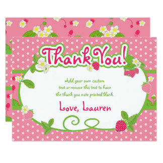 Sweet, Strawberry Thank You Cards