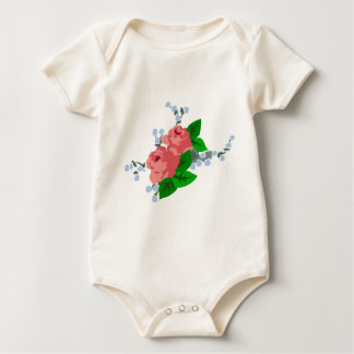 Sweet Stripes and Roses Baby Bodysuit