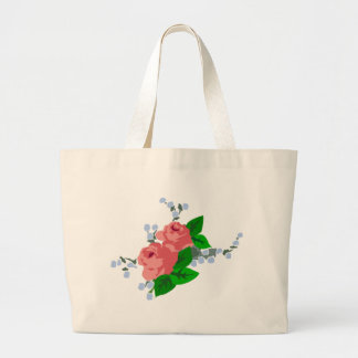 Sweet Stripes and Roses Tote Bag
