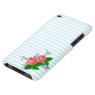 Sweet Stripes and Roses Case-Mate iPod Touch Case