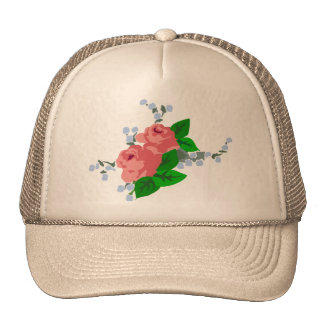 Sweet Stripes and Roses Hats