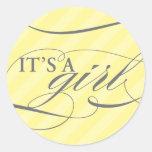 Sweet Stripes - It's a Girl Sticker