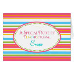 Sweet Stripes Thank You Note Cards Stationery