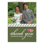 Sweet Stripes Wedding Photo Thank You Note Card