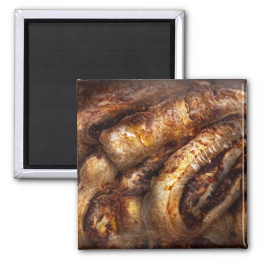 Sweet - Strudel - Almond Strudel Abstract 2 Inch Square Magnet
