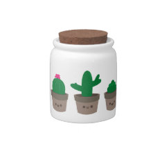 Sweet Succulent Candy Jar at Zazzle