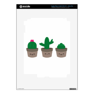Sweet Succulent Decal For iPad 3