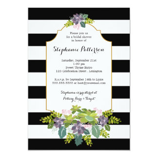 Sweet Succulent Floral Garden Bridal Shower Card