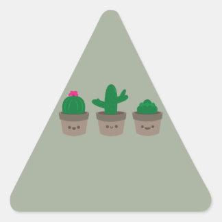 Sweet Succulent Triangle Sticker