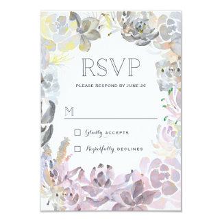 Sweet Succulents Wedding RSVP Card