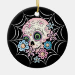 Sweet Sugar Skull Christmas Ornaments