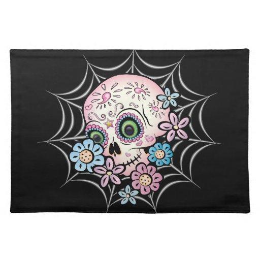 Sweet Sugar Skull Cloth Placemat