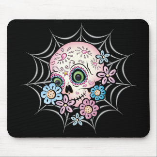 Sweet Sugar Skull Mouse Pad