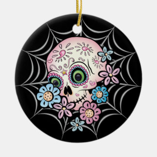 Sweet Sugar Skull Christmas Ornaments