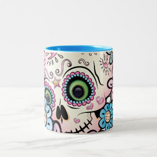 Sweet Sugar Skull Two-Tone Coffee Mug