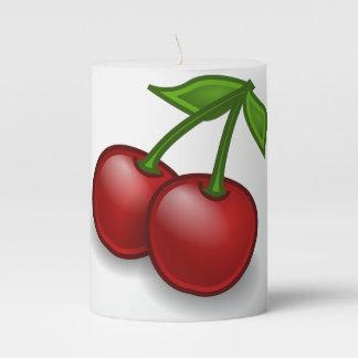 Sweet Summer Cherries Sm Pillar Candle