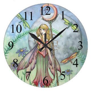 Sweet Summer Flower Fairy Wall Clock