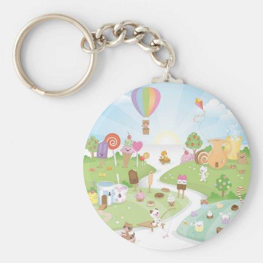 Sweet summer paradise! basic round button keychain