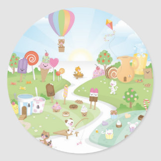 Sweet summer paradise! classic round sticker