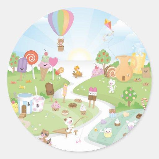 Sweet summer paradise! classic round sticker