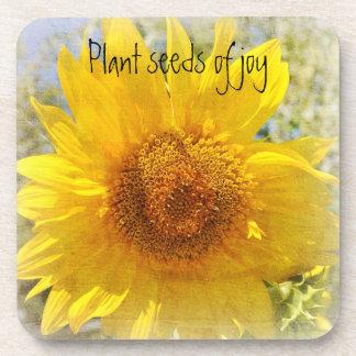 Sweet Summer Sunflower Drink Coaster