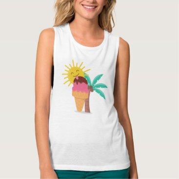 Beach Themed Sweet Summer Time Illustration Women's t-shirt