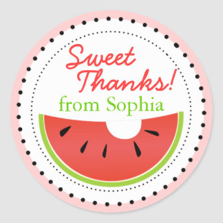 Sweet Summer Watermelon Thanks Stickers