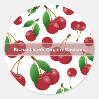 sweet summertime cherries classic round sticker