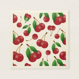 sweet summertime cherries napkin