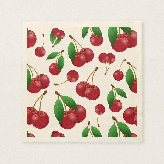 sweet summertime cherries napkins