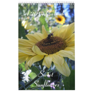 Sweet Sunflowers 2014 Calendar