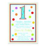 Sweet Surprise 1st  Birthday Invitation