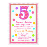 Sweet Surprise 5th Birthday Invitation