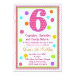 Sweet Surprise 6th Birthday Invitation