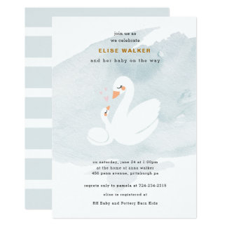 Sweet Swan Baby Shower, Swan Princess Card