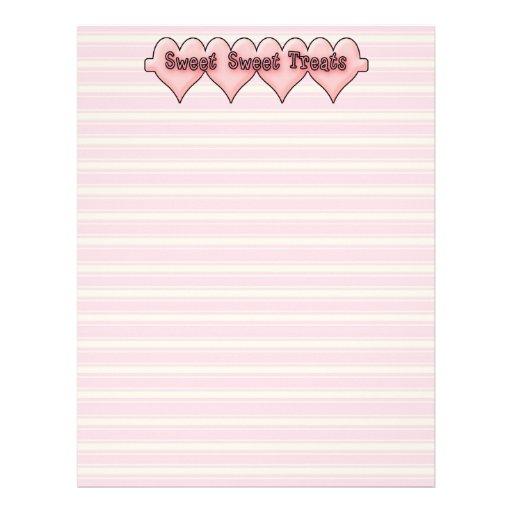Sweet Sweet Treats Recipe Paper Letterhead