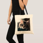 "Sweet Tabby Tote Bag<br><div class=""desc"">Kitten looking at camera</div>"