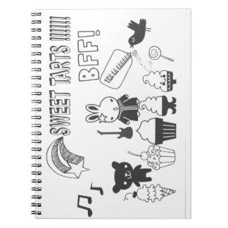 Sweet tarts BFF Notebook