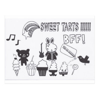 Sweet tarts BFF Postcard