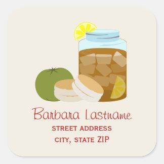 Sweet Tea, Biscuits, Green Tomato Address Sticker