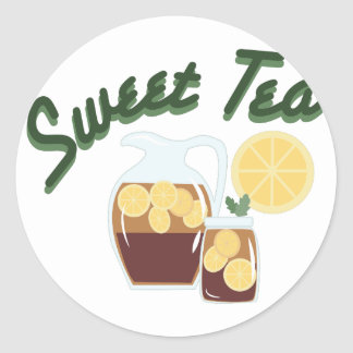 Sweet Tea Classic Round Sticker