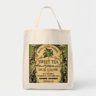 Sweet Tea Eau de Cologne Vintage Grocery Tote