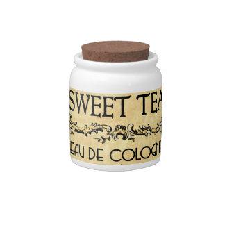 Sweet Tea Eau de Cologne Vintage Label Candy Dishes